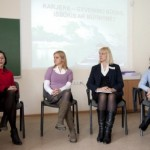 """Vytauto Didžiojo universiteto """"Karjeros dienose 2011″ dalyvavo Kauno Maironio universitetinės gimnazijos specialistė A. Naseckaitė"""